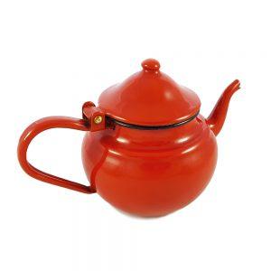 Kırmızı vintage emaye çaydanlık Rosso 0,7L kapasiteli. Dışı kırmızı içi beyaz emayedir. Saksı ya da sulama kabı olarak da kullanılabilir. Retrozade - Retro