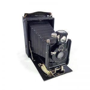 1920 - 1940 Almanya üretimi Zeiss Ikon Vario glassplate (cam plaka film) körüklü fotoğraf makinesi, 9x12 büyük format! Retrozade - Vintage • Retro • Antika