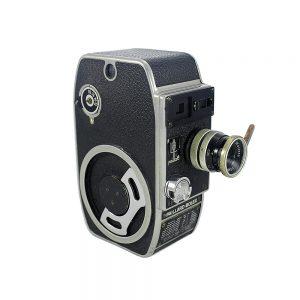 Koleksiyonerlerin gözdesi 1947 ve sonrası İsviçre yapımı Paillard Bolex L8 8mm film kamerası. Yvar 12.5mm F/2.8 Lens. Retrozade - Vintage Retro Antika