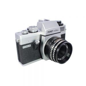 1972 ve sonrası Almanya yapımı Porst Reflex CX4. 35mm film, Pentaflex - color 2.8 / 50 lens. Praktica L2 fotoğraf makinesinin birebir aynısıdır. Retrozade