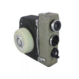 1960lar Japonya üretimi orijinal tutma sapı ve kayışıyla Sekonic Dualmatic 8mm film kamerası. İlk üretilen dualmatic kamera modelidir.