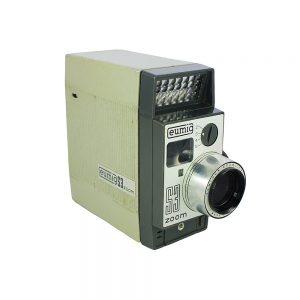 1963 sonrası Avusturya üretimi, orijinal tutma sapı ve kayışıyla, 1969 damgalı Haarlem / Hollanda gümrük belgesiyle Eumig S3 Zoom 8mm vintage film kamerası