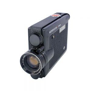 Agfa Microflex 200 8mm film kamerası Agfa Movaron f/2,0 lens ve orijinal deri kılıfıyla birlikte. Retrozade - Vintage Retro Antika