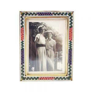 Renkli cam mikro mozaik fotoğraf çerçevesi, tamamen el yapımı mozaik, siyah-beyaz fotoğrafıyla birlikte renkli ve nostaljik! Retrozade - Vintage • Antika