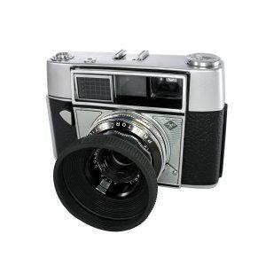 Agfa Selecta - 1962 Alman yapımı tam otamatik 35mm fotoğraf makinesi. Prontor-Matic P shutter, Agfa Color-Apotar 1:2.8/45mm lens - Retrozade - Vintage