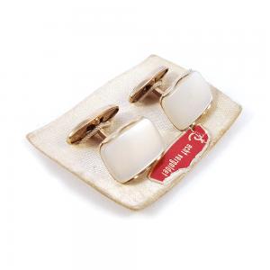 Sedef kol düğmesi set, altın kaplama, sedefin sadeliğiyle altın şıklığının birleşimi gerçek vintage ve çok demode! Retrozade - Vintage • Retro • Antika