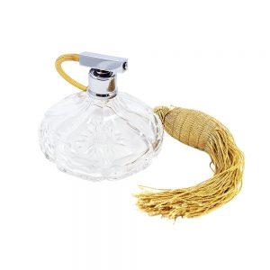 Kristal parfüm şişesi, Fransa'dan retroseverlere çok şık, gerçek kesme kristal parfume pump atomizer! Retrozade - Vintage • Retro • Antika