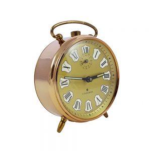 Retro çalar saat Bronz! Alman yapımı, canı isterse çalışan(!), bronz çerçeveli, romen rakamlı ve kurmalı çalar saat! Retrozade - Vintage • Retro • Antika