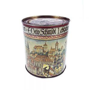 Eski teneke kutu Nürnberg, şehre dair çizimleriyle renkli ve oldukça eski bir teneke kutu! Tam koleksiyonluk! Retrozade - Vintage Retro Antika