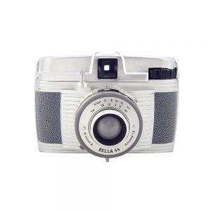 Bilora Bella 44 -1959 üretimi 4×4 format fotoğraf makinesi,127 roll film kullanır, orijinal gri çantasıyla! Retrozade - Vintage • Retro • Antika