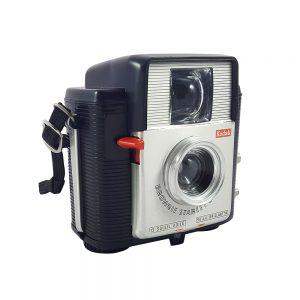 Kodak Brownie Starlet 60'larda Fransa'da üretilen, orijinal kutusunda orta format fotoğraf makinesi, koleksiyonerlere! Retrozade Vintage • Retro • Antika