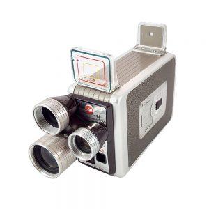 Kodak Brownie Turret 8mm film kamerası, 1950'ler USA üretimi, retro kahverengi, 3 lensli, tertemiz ve orijinal kutusuyla! ✨Retrozade✨ Vintage • Antika