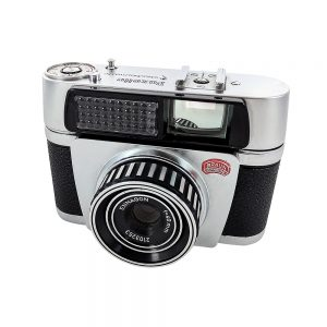 Braun Paxette Electromatic 35mm fotoğraf makinesi, 1959 Alman üretimi, orijinal deri çantasıyla, mükemmel kondisyonda! Retrozade - Vintage • Retro • Antika
