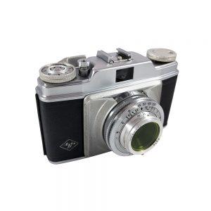 Agfa Silette 35mm fotoğraf makinesi 1950'lerden Silette serisinin ilk modeli! Agfa Apotar 1:3,5 / 45mm lens, çantası ve kitapçığıyla! ✨Retrozade✨