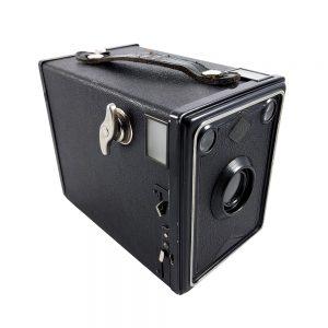 1933-1935 Alman üretimi Agfa Isochrome Box 34 6x9 formatında box pinhole fotoğraf makinesi! 120 roll film kullanır... Retrozade Vintage • Antika