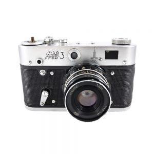 FED 3 (model B) 35mm fotoğraf makinesi 1966-1976 Eski Rusya üretimi, Industar 61.2,8/52 lens ile... ✨Retrozade✨ Vintage • Retro • Antika