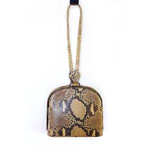 Piton derisi vintage çanta! Şık gece kombinleriniz için gerçek yılan derisi, gold klipsli, petite boy ve çok demode! Retrozade - Vintage Retro Antika