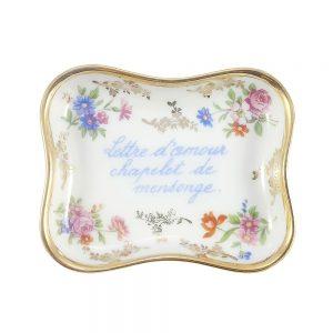 Limoges porselen takı tabağı; damgalı Fransız porseleni, bu aşklar hep yalan namelerinin tercümanı... Aşktan vazgeçemeyenlere! ✨Retrozade✨Vintage • Retro