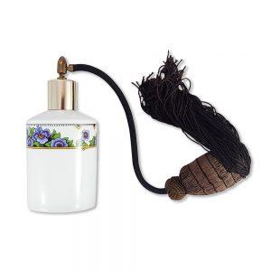 Vintage porselen parfüm şişesi Maronne; çiçek şeridiyle bezenmiş damgalı Fransız porseleni, kahve tonlarıyla çok şık! ✨Retrozade✨Vintage • Retro • Antika