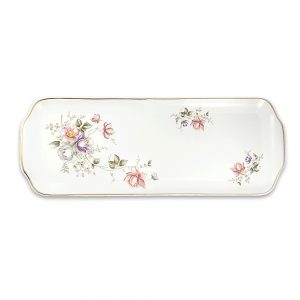 Limoges porselen servis tabağı Zen; gold bordürlü, narin çiçek motifli ve mineli! Sofrada şıklıktan vazgeçemeyenlere...✨Retrozade✨Vintage • Retro • Antika