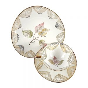 Bavaria trio fincan takımı Foglia; pasta tabağı & çay fincanı ve tabağından oluşan porselen set. Altın yaldızlarla bezenmiş güz yaprakları Retrozade'de! ✨Retrozade✨Vintage • Retro • Antika