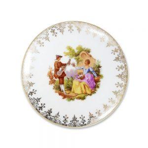 Limoges Fragonard mücevher kutusu; kenarlarındaki altın işlemeleri ve Fragonard deseniyle kusursuz güzellikte... Şekerlik olarak da kullanabilirsiniz!✨Retrozade✨Vintage • Retro • Antika