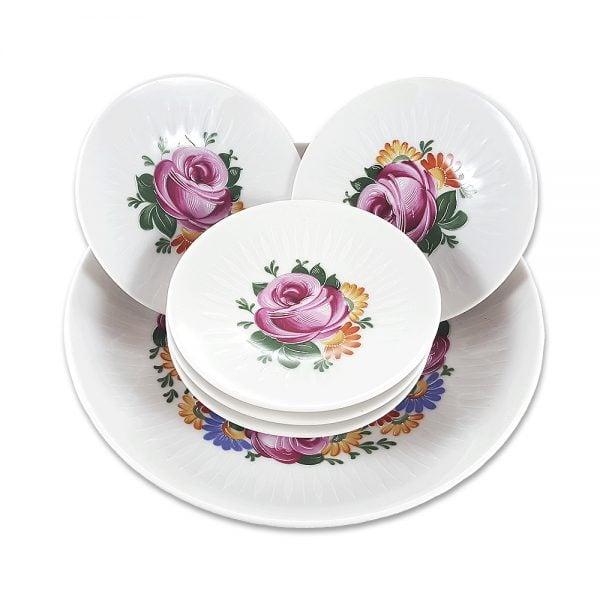 Bavaria sunum tabağı set Pinkie ile 60'lar geri geldi! 6 parçadan oluşan retro designıyla çok canlı! Şık sunumlarınıza vintage dokunuş! ✨Retrozade✨Vintage • Retro • Antika