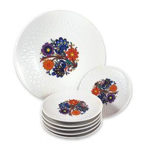 Bavaria servis tabağı set Hippie ile 60'lar geri geldi! 7 parçadan oluşan vintage designıyla çok canlı, şık sunumlarınıza vintage dokunuş! ✨Retrozade✨Vintage • Retro • Antika