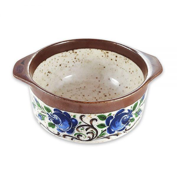 Retro seramik kase Blue Fleur; kulplu, mavi çiçek baskılı, fırın ve servis kullanımına uygun... Kahvaltılık ya da çerezlik olarak da kullanılabilir! ✨Retrozade✨Vintage • Retro • Antika